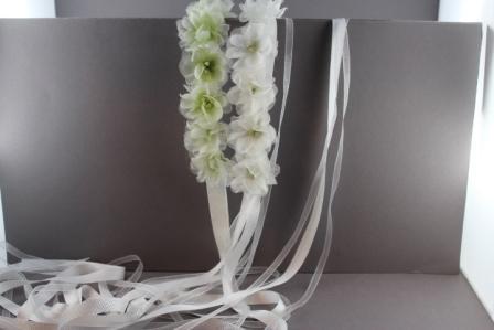 Coroncina in canetè 1,5mm con 11 fiori inseta e organza CRC-44 Passapò