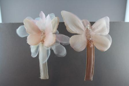 Cerchietto con farfalla piccola con petali organza e brillantini e farfalla grande con brillantini BSC901P e BSC901 passapò