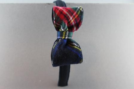 Cerchietto con fiocco cm. 8 scozzese BSW915A CR Passapò