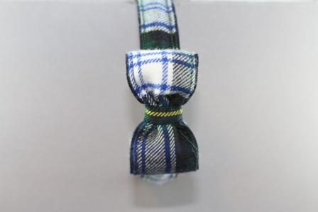 Cerchietto in tessuto scozzese con fiocco cm. 8 scozzese BLW918G CR Passapò