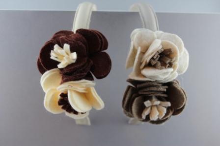 Cerchietto con 2 fiori in panno bicolor BSW-982MT Passapò