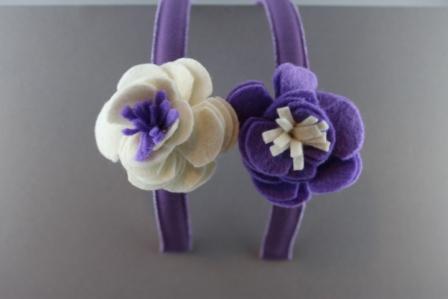 Cerchietto con fiore in panno bicolor BSW-981V Passapò